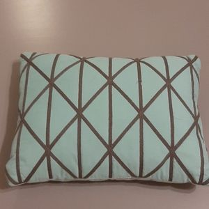 Grey and teal pillow